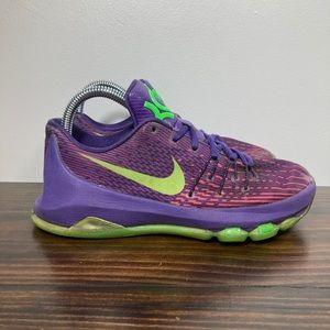 Nike KD Suit Purple Lime Green Basketball Shoes